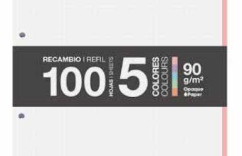 4月 新商品のお知らせ『A4 ルーズリーフ パステル5色セット』